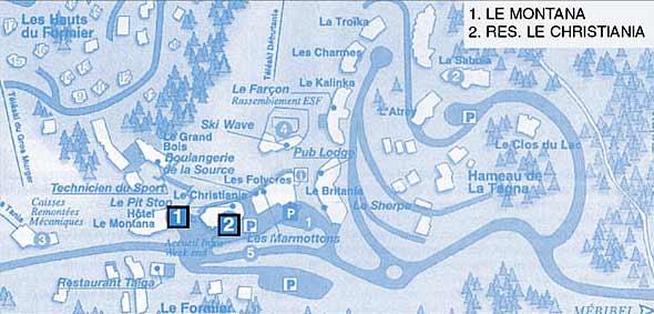 Схема посёлка Ла Танья